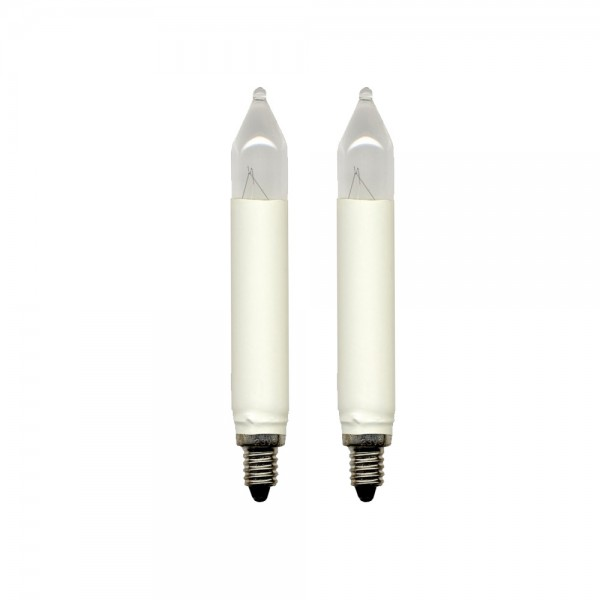 Schaft-Ersatz-Leuchtmittel - E10 - 23V - 3W - Warmweiß - 2 Stück