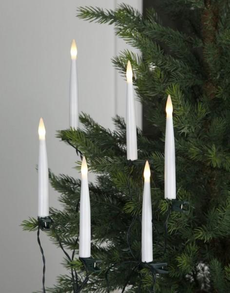 LED-Kerzenkette | Indoor | Slimline | statische LED | 10,5m | ↑15cm | 16er Set