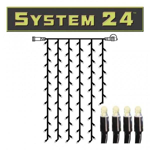 B-Ware System 24 | LED-Lichtvorhang | koppelbar | exkl. Trafo | 1.00m x 2.00m | 98x Warmweiß