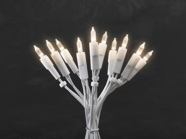LED Minilichterkette - 35x Warmweiß - 5,10m - Indoor - Weißes Kabel - Schalter