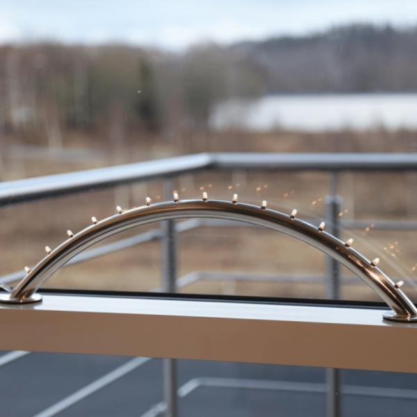 Fensterleuchter Light Hill - 15flammig - warmweiße Birnchen - L: 53cm, H: 13cm - gebürstetes Eisen