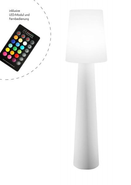 """Outdoor XL Stehlampe No. 1 """"Weiß"""" H:160cm - LED Modul - Außenleuchte IP44"""