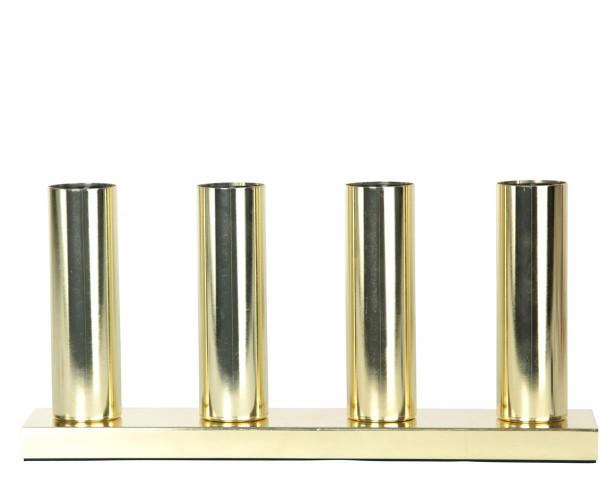 """LED Tischleuchte - Standleuchte """"Glans"""" - 4x E27 Fassung - H: 17cm, L: 36,5cm - messing"""