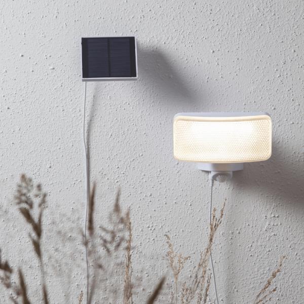 """LED Solar Strahler """"Powerspot"""" - warmweiß - 350lm - mit Bewegungsmelder und Lichtsensor - H: 16cm"""