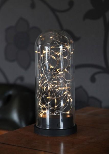 LED-Lichterkette im Glas SW - FlexiLine Indoor - Batterie - Timer | →11 x ↑26cm - 50x Warmweiß