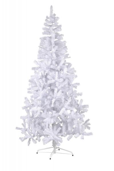 """Weihnachtsbaum """"Canadian"""" - H: 210cm, D: 115cm - Farbe: weiss - mit Kunststofffuss - outdoor"""