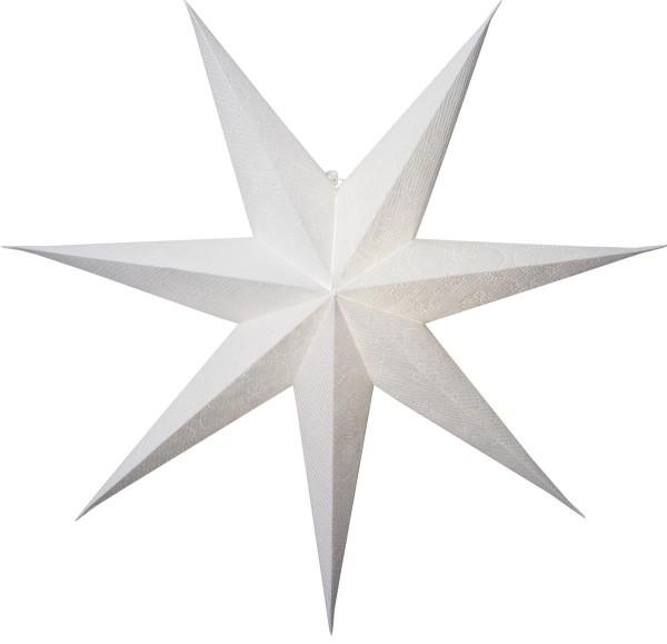 """Papierstern """"Decorus"""" - hängend - 7-zackig - Ø 75 cm - weiß"""