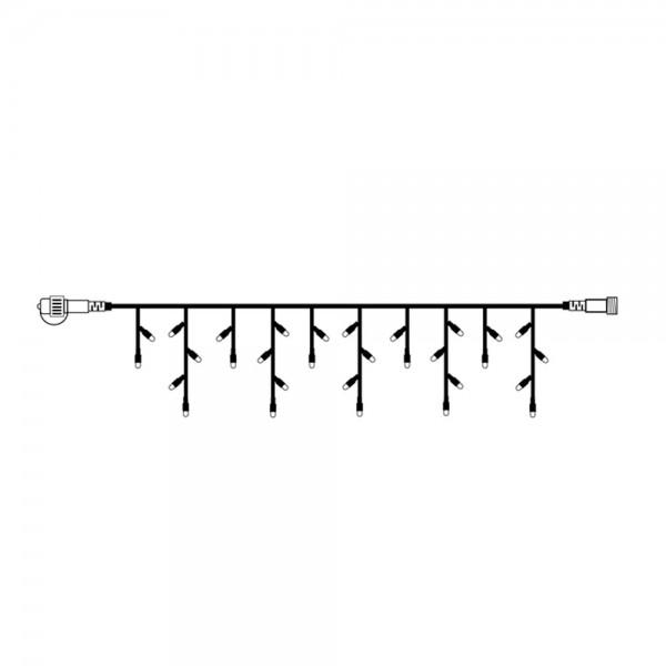 System DECOR | LED Lichtervorhang |koppelbar| 4x0,4m | weißes Kabel | 140 warmweiße LEDs