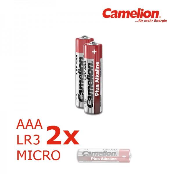 Batterie Mignon AAA LR3 1,5V PLUS Alkaline - Leistung auf Dauer - 2 Stück - CAMELION