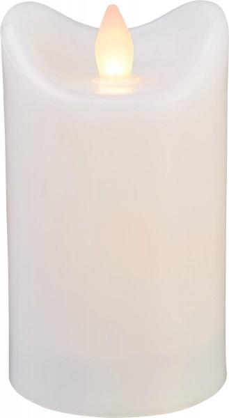 LED-Kerze | Kunststoff | Bianco-Design | flackernde LED | Timer | Weiß | →7cm | 12cm