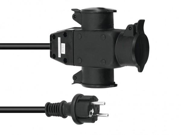 Stromkabel 5m / Verlängerung | 3-Fach | Schutzkontakt | Outdoor| 3x1,5mm²