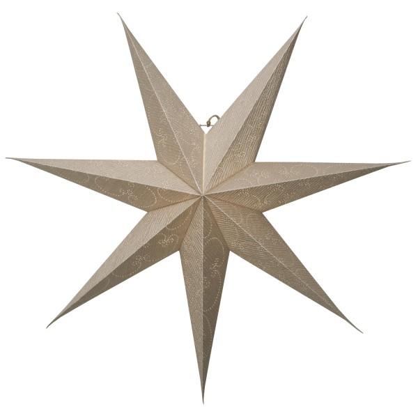 Papierstern Decorus - hängend - 7-zackig - D: 75cm - gold