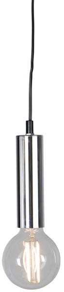 Lampenfassung | GLANS | E27 | 350cm Kabel | Röhre | hängend | Silber-Chrom 1