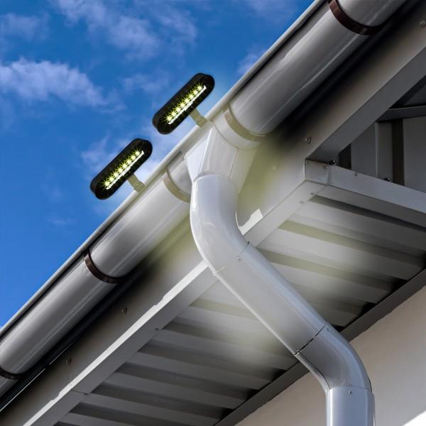 LED Solarleuchte zum Klemmen - je 8 weiße LED - Dämmerungssensor - 2er Set