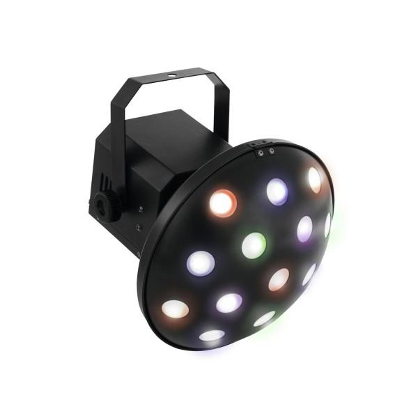 "LED Strahleneffekt ""Z-1000"" - raumfüllender Pilzkopf-Effekt - Auto, DMX, Musik - 6-farb LEDs"