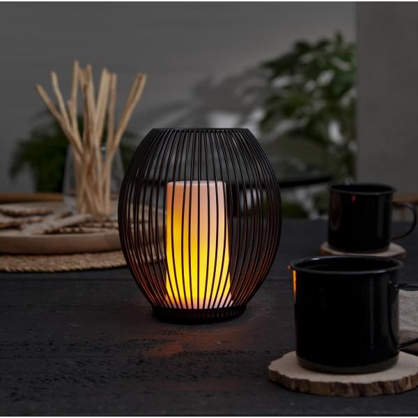 """LED Kerze """"Diner Extra"""" - 96 gelbe LED - bewegliche Flamme - H: 13cm - wiederaufladbar - USB"""