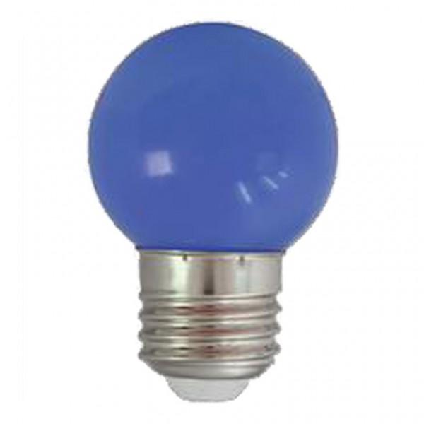 LED-Leuchtmittel | G45 - E27 | 1W | Blau