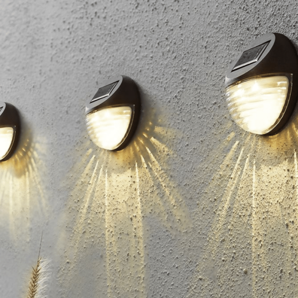 """LED Fassadenleuchte """"Fency"""" - Solar - Dämmerungssensor - warmweiße LED - 3er Set"""