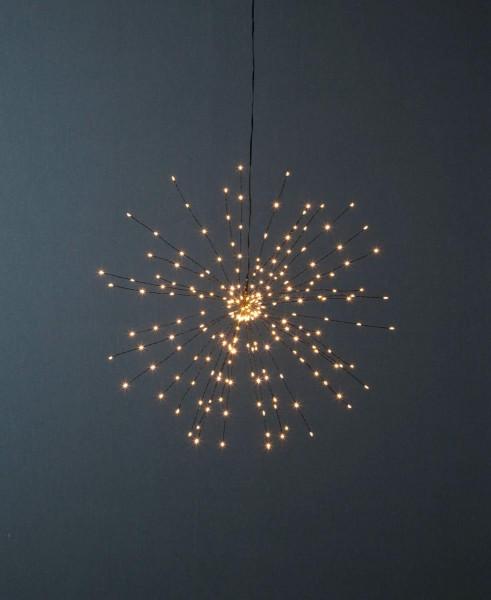 "3D-LED-Hängestern ""Firework"" - 200 warmweiße LED - schwarz - D: 50cm - Material: Metall"