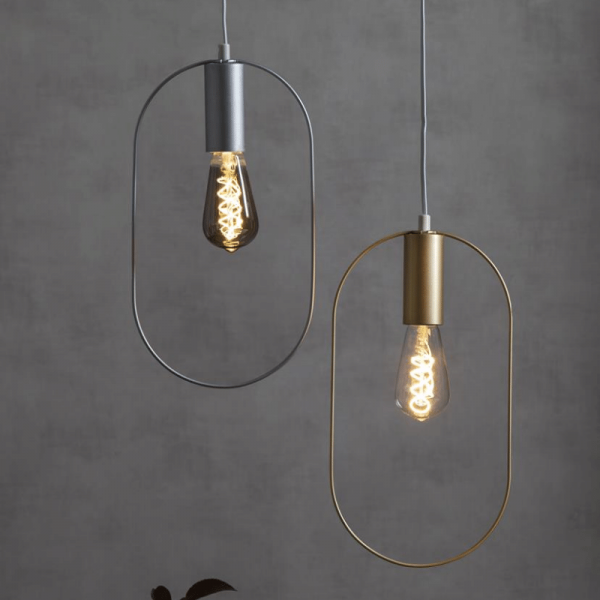"Deko-Lampenfassung SHAPE ""O"" - gold - 20x38cm - E27 - max 25W"