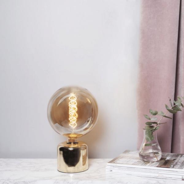 Lampenhalterung | GLANS | E27 | 180cm Kabel | Sockel | stehend | Messing