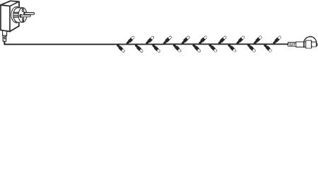 System DECOR | Starter Set Lichterkette 10m| koppelbar | transparentes Kabel | 100 DL LEDs | inkl. Trafo