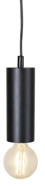 Lampenhalterung | TUB | E27 | hängend | Schwarz | klein | ↑15cm | 1