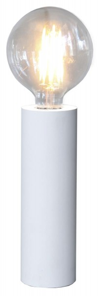 Lampenhalterung | TUB | E27 | stehend | groß | ↑25cm | Weiß