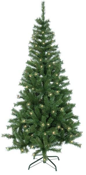 """LED-Weihnachtsbaum """"Kalix"""" - 150 warmweiße LEDs - H: 195cm, D: 105cm - Farbe: grün - mit Metallfuss"""