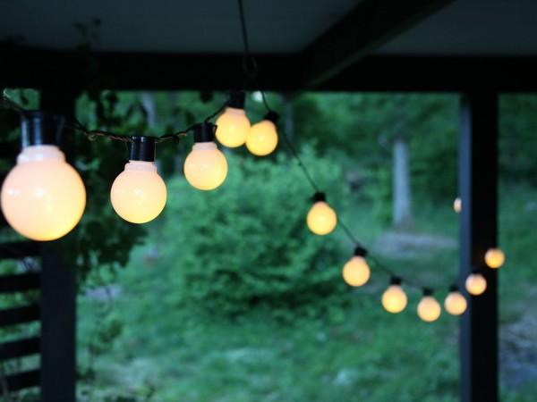 Partylichterkette - LED - Outdoor - 4,50m - 16 x warmweiß - 1,44W
