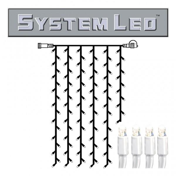 System LED White | Lichtvorhang | koppelbar | exkl. Trafo | 1.00m x 2.00m | 102x Kaltweiß