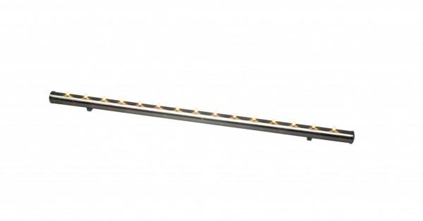 Fensterleuchter Light Flute - 15flammig - warmweiße Birnchen - L: 56,5cm - Schalter - gebürstetes Eisen
