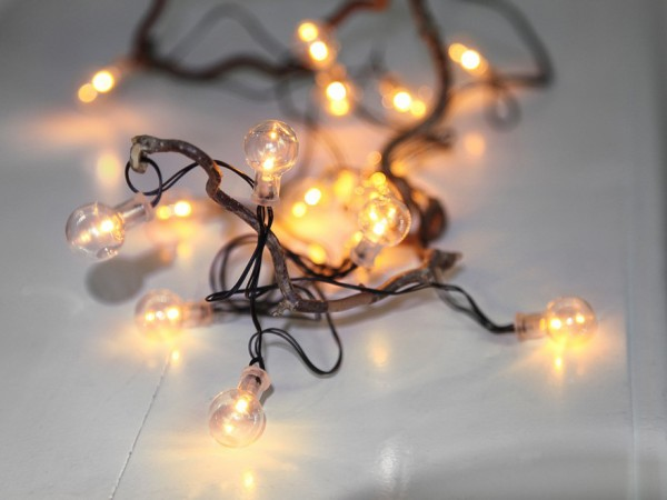 LED-Party-Lichterkette - Glow Line Indoor - Batteriebetrieb - Timer - 2,25m - 16x Warmweiß