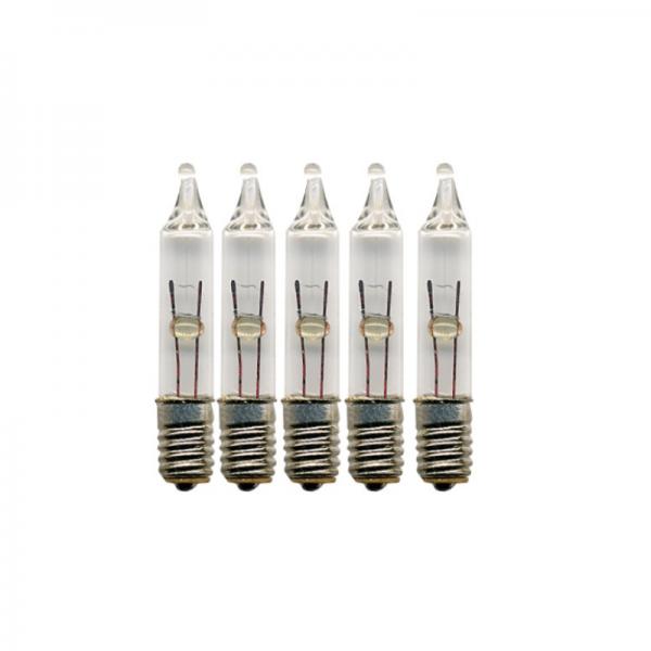 Ersatzlampen 5er Pack - E5 - 3V - 0,21W - klar - H: 2cm - D: 0,4cm