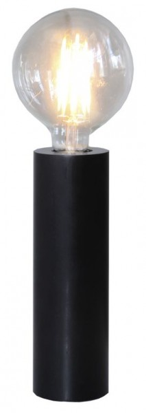 Lampenhalterung | TUB | E27 | stehend | groß | ↑25cm | Schwarz