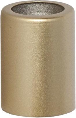 Ringhülse für Stabkerzen - gold - 5er Pack - H: 3,8cm - D: 2,7cm