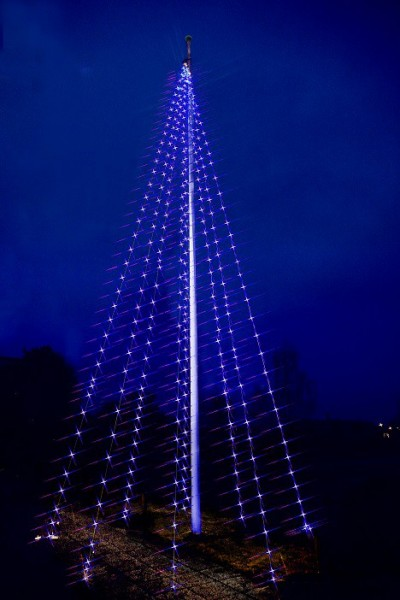 Erweiterung zu LED-Fahnenmast-Lichterkette - Flagpole Line Outdoor - 10,00m - 50x Warmweiß