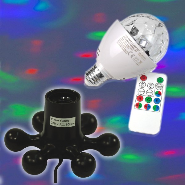 PARTY KIT - Multifunktions-LED Effektlampe mit Designfassung