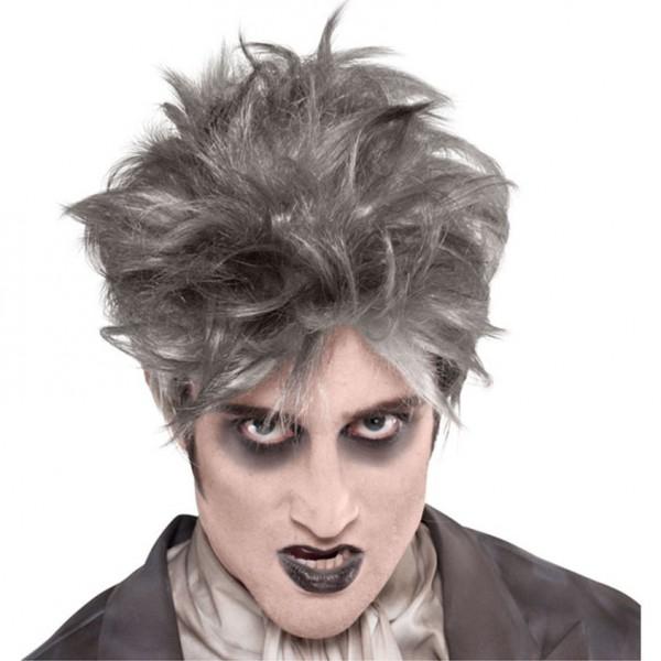 """Perücke """"Grufty"""" - silbergraue Haare für Vampire, Zombies, verrückter Professor etc."""