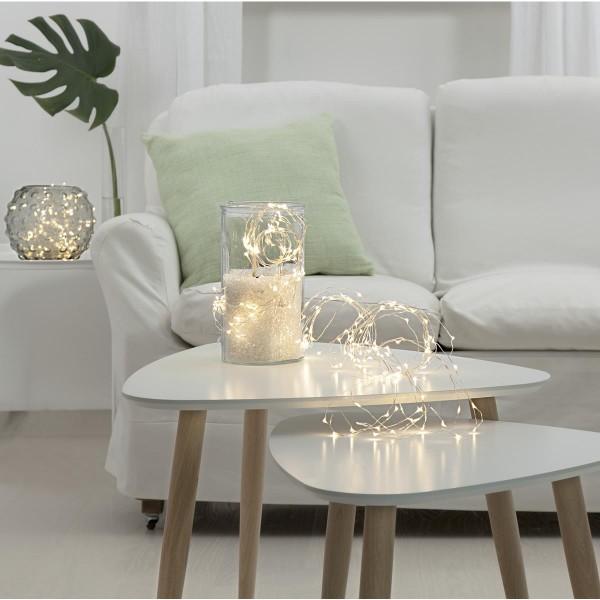 """LED-Lichterbouquet """"Dew Drops"""" - 200 weiße LEDs auf 10 Drähten - 2,0m - inkl. Trafo"""