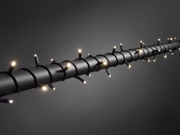 LED Microlichterkette - LED Expert - 7,90m - 80x Warmweiß - Schwarzes Softkabel - Timer -Outdoor