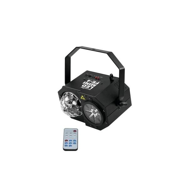"""LED Mini Hybrid Laserflower """"FE-4"""" - Vielfältige Lichtspiele mit Laser, Wash, Strobe + Mooneffekten"""