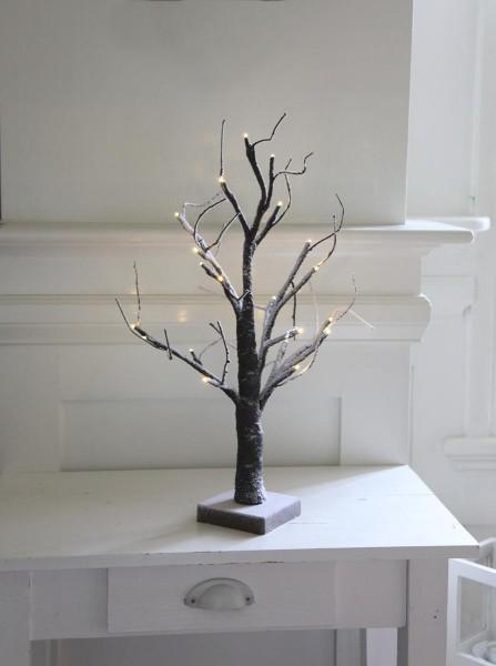 "LED-Dekobaum ""Tobby Tree"" - 20 warmweiße LED - H: 52cm - Batteriebetrieb - Timer - braun"