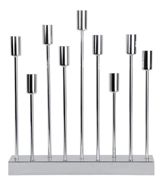 """Kerzenleuchter """"PIX"""" - 9-armig - E14 Fassung - H: 50cm, L: 42cm - silber"""