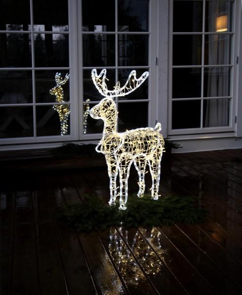 3D-LED-Rope-Light-Silhouette Rentier - 385 warm + kaltweiße LEDs - Lichtschlauch & Lichterkettenmix