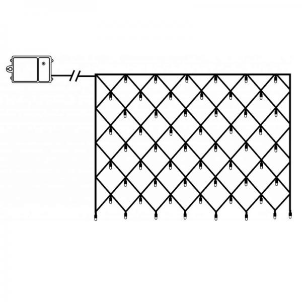 LED-Lichternetz - Dura Line Outdoor - Batteriebetrieb - Timer - 0,80 x 1,35m - 80x Warmweiß - Transp