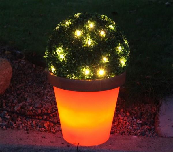 System 24 | LED-Terracotta-Blumentopf | koppelbar | inkl. Trafo | →36 x ↑33cm.