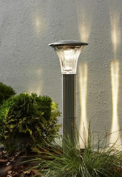 "LED-Solar-Wegleuchte ""Nice"" - Edelstahl - helle, warmweiße LED 60/15lm - Dämmerungsensor - outdoor"