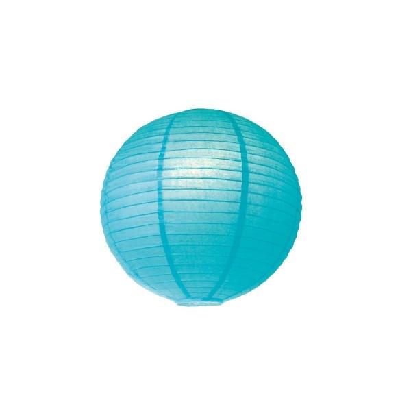 Lampion aus Papier - hellblau - 40cm - für E27 Hängefassungen oder Lichterketten