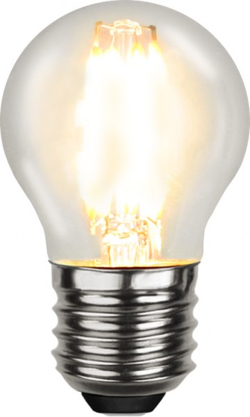 LED Tropfenlampe FILA G45 - E27 - 4W - warmweiss 2700K - 470lm - klar